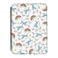 Unicorns & Rainbows Design Clouds iPad Mini 1 2 3 PU Leather Flip Case Cover