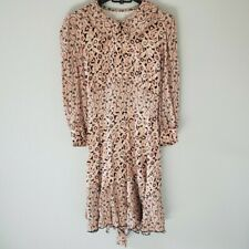 Anthropologie Anna Sui Belted Floral Dress Size 6
