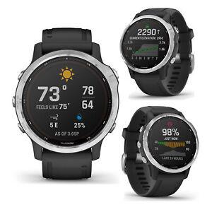 Garmin Fenix 6S Solar Silver With Black Band Smart GPS Multi Sport Running Watch