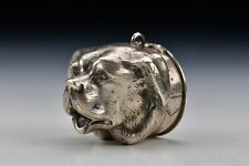 American Coin Silver Figural Dog Snuff Box 19th Century