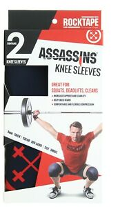 Rocktape Assassins Knee Compression Sleeves for Weight Lifting, Sports, Training