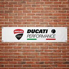 Ducati Performance Banner Garage Workshop Motorcycle PVC Sign Trackside Display