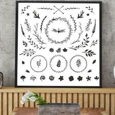 Garland Leaves Flower DIY Silicone Clear Stamps Seal Scrapbook Embossing Album