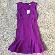 NWT Diane von Furstenberg Jaelyn Purple Stretch-ponte Fit Dress SZ 4 XS S