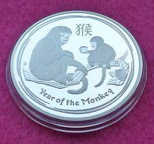 2016 -P AUSTRALIA SERIES II LUNAR MONKEY $1 SILVER  PROOF COIN COA AND BOX