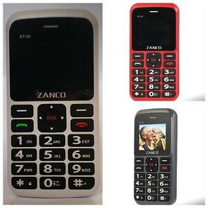 ZANCO Easy Text Basic Big Button Elders Senior Mobile Phone Unlocked Single SIM