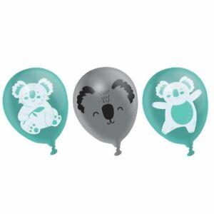 KOALA Pack of 6 Party Balloons Kids Birthday Decorations Australia Animals