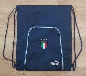 Vintage Puma Italia Italy Football Training Backpack Drawstring Shoesack Gym bag