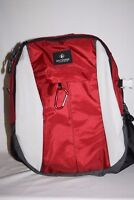"Outdoor Products Hiking Camping School Backpack Red Black Padded Straps 17"" Tall"