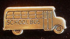 School Bus Tack Pin 24 kt Gold Plate Bus Driver Tie Tack