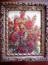 ANTIQUE RUSSIAN SOVIET IMPRESSIONISM PAINTING OIL CANVAS 1966 STIL LIFE M. UTKIN