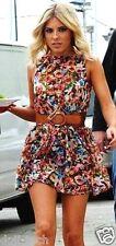 TopShop Inky rose floral Celeb Summer Skater Mini Tunique SUN tea dress 8 36 US4 S