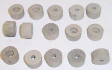 Lot de 15 meules à ébarber cylindriques Ø 22 - Ht 14 - Ø alésage 6 mm - NEUVES
