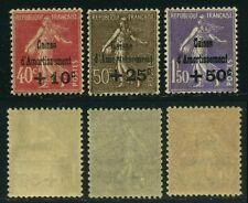 """FRANCE 266/68 """" SEMEUSES 4e SERIE CAISSE D'AMORTISSEMENT 1930"""" NEUFS xx SUP M244"""