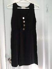 Alannah Hill black dress with gold buttons in size 12