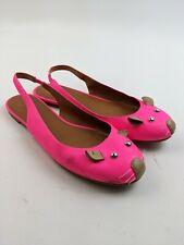 Marc By Marc Jacobs Neon Pink Mouse Face Flats Sz 39 EU 8.5 US