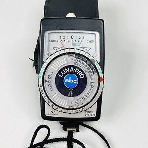 Gossen Luna Pro SBC Profi-System Light Exposure Meter In Case Tested Working!