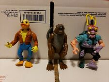 Vintage Teenage Mutant Ninja Turtles Action Figures Lot Splinter Ace Duck Fodder