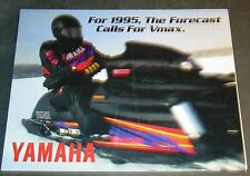 1995 YAMAHA VMAX SNOWMOBILE SALES BROCHURE 8 PAGES POSTER SIZE     (753)