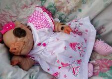 """Reborn baby girl piglet PETAL 4lb6oz 16"""" JosyNN A BABY BUT NOT A BABY ! FUN GIFT"""