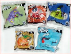 5 Burger King SILLY SLAMMERS 1999 HALLOWEEN Complete Set Sealed NEW in package