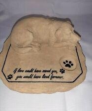 Pet Memorial Statue Dog Rememberance Decorative Stone Garden Grave Marker New.