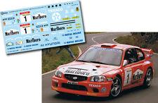 Decal 1:43 Gregorio Picar - HYUNDAI ACCENT WRC - Rally Palma Canaria Norte 2001