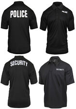 Polo Shirt Moisture Wicking Safety Security Police Public  Rothco 3282 3216