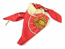 Hermes Springs Red Scarf Scarves Wrap Light Silk 100% Authentic