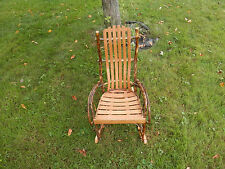 AMISH MADE HICKORY ROCKER ROCKING CHAIR CHILD SMALL RUSTIC AMERICAN MADE
