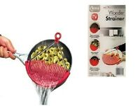 Wonder Strainer Sieve Pot Pan Plastic Kitchen Tool Colander Draining Solution