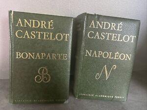 BONAPARTE NAPOLEON par André CASTELOT Librairie académique PERRIN 2 Tomes