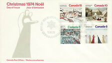 CANADA #650-653 CHRISTMAS COMBINATION FIRST DAY COVER