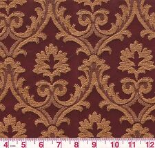 Fabricut Red Gold Floral Woven Upholstery Fabric Trend 01330 Plumwood BTY