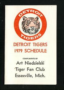 Detroit Tigers--1979 Pocket Schedule--Tiger Fan Club