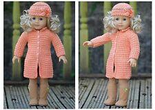Knitting Pattern - Peach Flower Doll Set (for American Girl, Gotz and etc.)