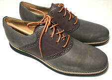 COLE HAAN Mens Size 10.5 LUNAR GRAND SADDLE  Pewter/Chestnut Lace Up OXFORD NEW