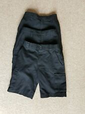 3x Boys school uniform cargo style shorts 5-6 yrs pockets adjustable waist