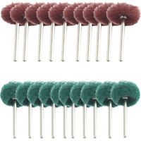 20pcs Fiber Abrasive Buffing Pad Polishing Brush Wheel for Rotary Tool Kits