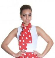 Ladies Girls Polka Dot 50's Grease Style Neck Tie Head Scarf ( Red+Black+Pink )