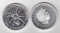 AUSTRALIA - NEW ISSUE SILVER UNC 1$ COIN 2015 YEAR FUNNEL WEB SPIDER