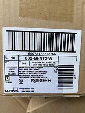 Qty -10 New leviton 20 amp gfci