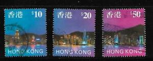 Hong Kong  - Used - Set of 3 - $10/$20/$50 - Scott#   776-778