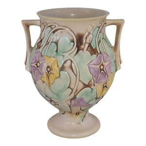 Roseville Pottery Morning Glory 1935 White Vase 728-9