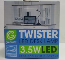 3.5W LED Desk Lamp Twister Greenlite Table Book Reading Light, 3000k, 250 Lumens