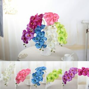Artificial Silk Orchid Butterfly Moth Fake Flower Wedding Party Festival Decor