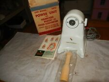Vintage 1950's -1960's Hamilton Beach Meat Grinder Model # 1MPU original box
