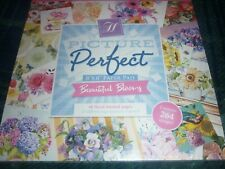 "HUNKYDORY PICTURE PERFECT 8"" X 8"" PAPER PAD BEAUTIFUL BLOOMS 48 PAGES SEALED"