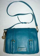 Turquoise Blue DKNY Ladies Leather Crossbody Bag Messenger