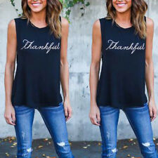 Womens Summer Tank Top T-shirt Blouse Shirt Vest Ladies Sport Casual Tee Tops